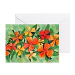 Tropical Flowers Greeting Cards (Pk of 10)