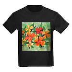 Tropical Flowers Kids Dark T-Shirt