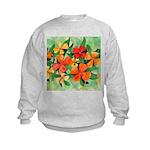 Tropical Flowers Kids Sweatshirt