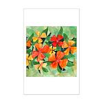 Tropical Flowers Mini Poster Print
