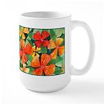 Tropical Flowers Large Mug