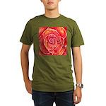 Red-Orange Rose Organic Men's T-Shirt (dark)