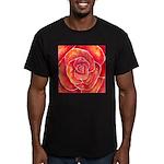 Red-Orange Rose Men's Fitted T-Shirt (dark)