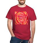 Red-Orange Rose Dark T-Shirt