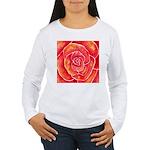 Red-Orange Rose Women's Long Sleeve T-Shirt