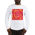 Red-Orange Rose Long Sleeve T-Shirt