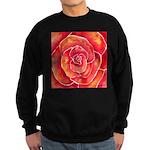 Red-Orange Rose Sweatshirt (dark)