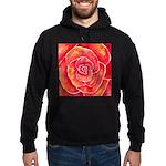 Red-Orange Rose Hoodie (dark)