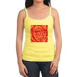 Red-Orange Rose Jr. Spaghetti Tank