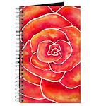 Red-Orange Rose Journal