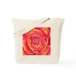 Red-Orange Rose Tote Bag