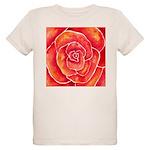 Red-Orange Rose Organic Kids T-Shirt