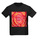 Red-Orange Rose Kids Dark T-Shirt