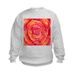 Red-Orange Rose Kids Sweatshirt