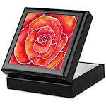 Red-Orange Rose Keepsake Box
