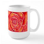 Red-Orange Rose Large Mug