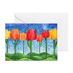 Tulip Trees Greeting Card