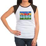 Tulip Trees Women's Cap Sleeve T-Shirt