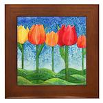 Tulip Trees Framed Tile