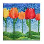 Tulip Trees Tile Coaster