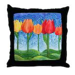 Tulip Trees Throw Pillow