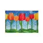 Tulip Trees Rectangle Magnet (10 pack)