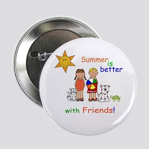 """Summer and Friends 2.25"""" Button"""