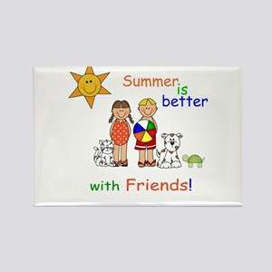 Summer and Friends Rectangle Magnet