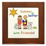 Summer and Friends Framed Tile