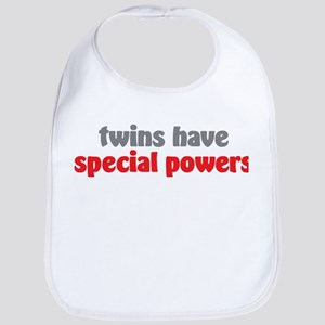 Twins Have Special Powers Red Bib