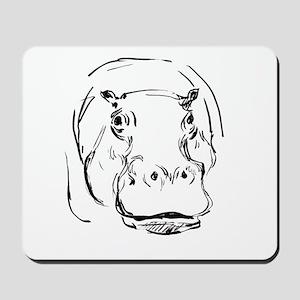 Sweet Hippo Mousepad