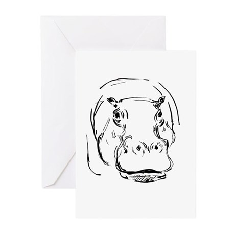 Sweet Hippo Greeting Cards (Pk of 10)