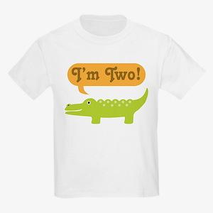 Alligator 2nd Birthday Kids Light T-Shirt