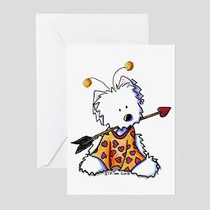 Love Bug Westie Greeting Cards (Pk of 10)
