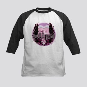 Twilight Eclipse Pink Heart Kids Baseball Jersey