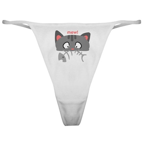 Tabby Says Mew Classic Thong
