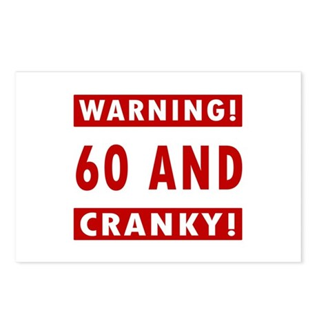 Cranky 60th Birthday Postcards (Package of 8)