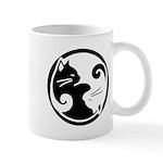 Yin Yang Cat Mug