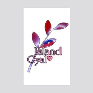 Island Gyal twig - Haiti - Sticker (Rectangle)