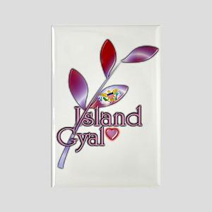 Island Gyal twig - USVI - Rectangle Magnet