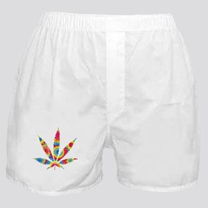 Rainbow Hippie Weed Boxer Shorts