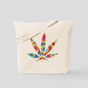 Rainbow Hippie Weed Tote Bag