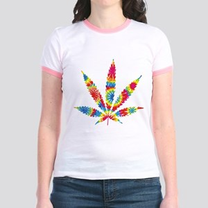 Rainbow Hippie Weed Jr. Ringer T-Shirt