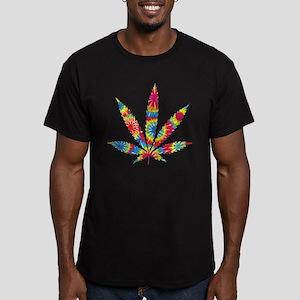 Rainbow Hippie Weed Men's Fitted T-Shirt (dark)