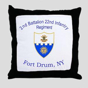 2nd Bn 22nd Inf Reg Throw Pillow