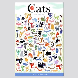 99 Cats - Poster by Bob Staake