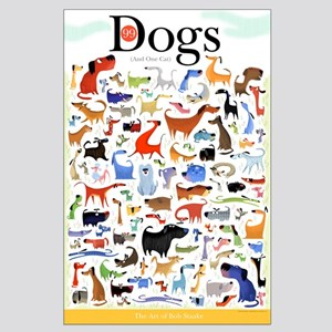 99 Dogs - Poster by Bob Staake