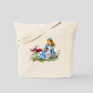 ALICE & THE RABBIT Tote Bag