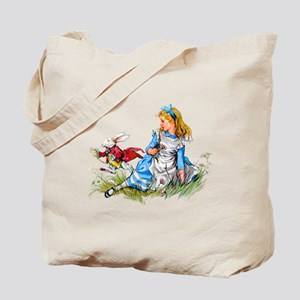 ALICE & THE RABBIT Tote Bag