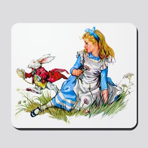 ALICE & THE RABBIT Mousepad